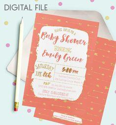 Southwestern Baby Shower Invitation Shabby Baby by AlniPrints #baby #shower #invitation #invite #rustic #modern #DIY #gifts #digital #printable #Buho #floral #download #Shabby