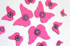 Pink ButterfliesGirls RoomWall DecorBaby by MyDreamDecors on Etsy, $18.50