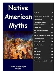 An exciting and engaging unit on Native American Myths designed to be used in grades 6-8! This multi-disciplinary unit can be taught in either ELA or Social Studies, or a combination of both. Students analyze a variety of NA myths through close reading, scaffolded note-taking, and the use of graphic organizers. Then they write their own myth or legend! Includes #nativeamericanmyths #middleschoolELA #nativeamericanscommoncore #teacherspayteachers