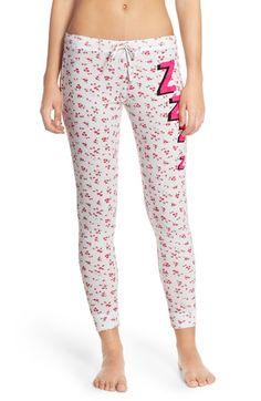 Junk Food  ZZZZ  Graphic Thermal Pants Pajamas Women 4015ebe32