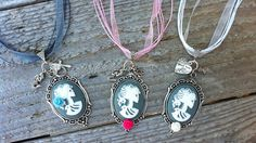 Goth Cameo Necklace with Rose choice of color by HollyesHobbye, $25.00