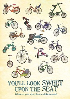 Whatever your style, there's a bike to match.  http://www.letmebike.eu/blog/the-bike-for-you/