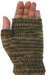 Free Knitting Pattern: 8 ply Fingerless Mitts