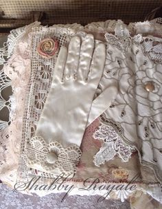 Family heirlooms pillow cover or dresser topper by Shabby Royale