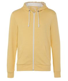 Casual jersey is a transitional saviour and this yellow hoodie is a fail-safe turn-to for an injection of spring/summer shades. £14.99 #newlookfashion #menswear #brights #hoodie #yellow