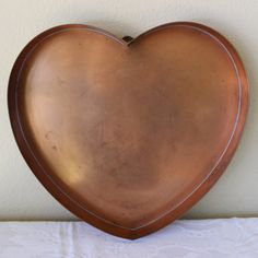 "Cape Cod Copper Works 14"" Copper Heart Pan Tray Extra Large Cookie Cutter for Hanging by objectsofvirtu on Etsy"