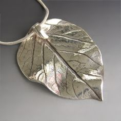 pmc jewelry: metal clay leaf - Google Search