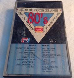 HITS OF THE 80s Tape cassette PEPSI BURGER KING 1985 cbs Records