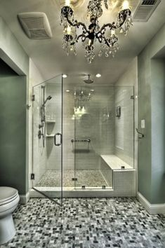 Good idea to have a big shower (and no tub) for the master bathroom.