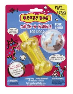 $5.94-$6.49 Crazy Dog Catch-A-Bubble - Colors may vary - Magical long-lasting bubbles scented with catnip are the purr-fect interactive toy for kids of all ages and their cats.  Bubbles will stay for hours.  Fully safety tested to standards of industry.  Comes with a wand and goldfish shaped bottle for hours of fun. Colors may vary. http://www.amazon.com/dp/B0009YN2WU/?tag=pin2pet-20