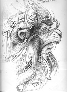 If i was ever having a detailed tattoo it would be this one. Lion head warrior.