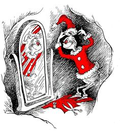'how the grinch stole christmas' illustration, theodor geisel (dr. seuss)