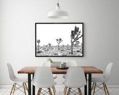 Joshua Tree National Park, desert print, cactus print, modern print, desert, cactus, mid century modern, wall art, modern wall art, desert photography