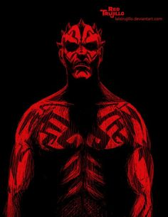 #Darth #Maul #Fan #Art. (Darth Maul) By: Mexico Red Trujillo. (THE * 5 * STÅR * ÅWARD * OF: * AW YEAH, IT'S MAJOR ÅWESOMENESS!!!™) ÅÅÅ+