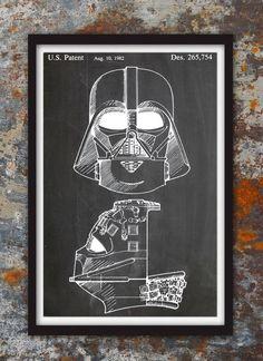 Darth Vader Yoda Dictionary Art Print Funny Star Wars Print Set of 4 Star Wars Wall Art Set for Kids Man Office Decor Living Room Decoration Artwork Husband Boyfriend Birthday Gift