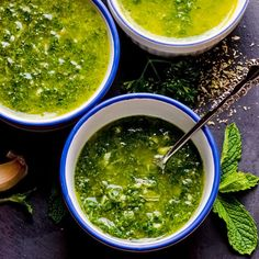 Chimichurri 3 Ways: Mint, Arugula and Parsley