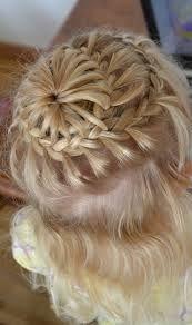starburst braid on little hair never ending french braid into starburst...........