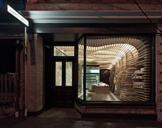 Bakery designed to resemble the inside of a bread basket. Cool concept.