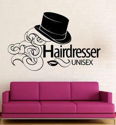 Wall Sticker Vinyl Decal Hairdresser Beauty Salon Unisex Hair Salon (ig2018) #wallstickers4you
