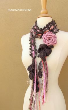 Quite a different take on the crocheted scarf.