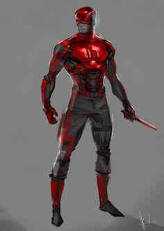 ArtStation - Daredevil rough concept (wip), Rose Davies - Visit to grab an amazing super hero shirt now on sale! Superhero Characters, Comic Book Characters, Comic Character, Comic Books Art, Comic Art, Superhero Suits, Arte Dc Comics, Marvel Comics Art, Marvel Heroes