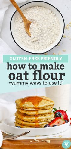 How to Make Oat Flour - Learn how easy it is to make your own oat flour get LOTS of ideas for how to use it. This whole grain flour is great for everything from breakfast to dessert! // Homemade Oat Flour // Gluten Free Oat Flour // Whole Grain Oat Flour Gluten Free Oats, Gluten Free Baking, Gluten Free Recipes, Vegan Recipes, Zoodle Recipes, Whole Grain Flour, Oat Flour, Freeze, Baby Led Weaning Breakfast