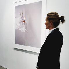 Laura Letinsky, seen during a gallery visit with a client in NYC