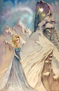 Elsa looking at her Palace