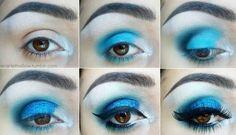 HOW TO: Blue Aqua Eyeshadow style