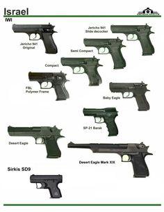 Jericho 941 series, Barak, Desert Eagle, and Sirkis Military Weapons, Weapons Guns, Airsoft Guns, Guns And Ammo, Iwi Jericho, Fire Powers, Weapon Concept Art, Shotgun, Firearms