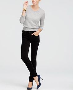 """A true must-have for the season in stretch cotton velvet, we can't get enough of this sensationally slim (and versatile) silhouette. Our modern fit, leaner through your hips and thighs. Front zip with button closure. Belt loops. Classic five-pocket styling. 31"""" inseam."""