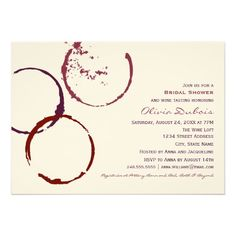 Bridal Shower Invitation | Red Wine Theme