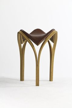 """""""Kishimoto showed a lot of skill in terms of mastering and controlling the material: she managed to bend the wood seamlessly in order to create a beautiful abstract form that looks very avant-garde"""" - DESIGN FOR TODAY - (""""Vaulted Stool"""" by Laura Kishimoto)"""