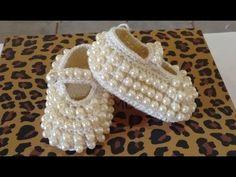 Lembrancinha de Maternidade Sapatilha de Crochê - Professora Simone - YouTube