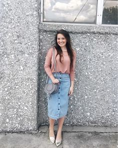 I'm completely in love with this denim skirt! It's a stretchy material, so it's very comfortable and it's currently on sale. it also fits true to size if you're curious. I'll put the direct link to the skirt in my bio and you can find the rest of the outfit details here http://liketk.it/2psXq I hope you all are having a fantastic day!! @liketoknow.it #liketkit