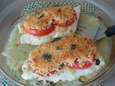 Made this for supper, added a clove of garlic to the crumbs, and some onion on top of the tomatoes, oh man....it was sooooo good!