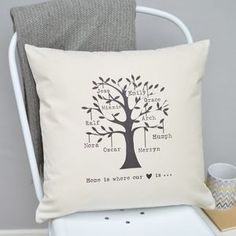 Personalised Family Tree Cushion - inspired by family
