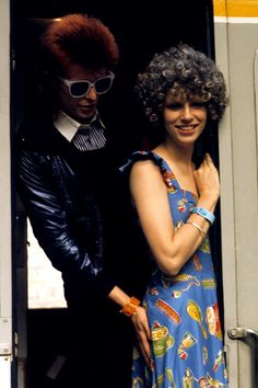 He still looks great. The First Couple of Glam Rock, David & Angie Bowie ca. 1973.
