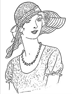 femme avec chapeau                                                                                                                                                                                 Mais