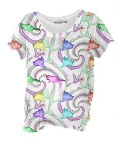 Lollipop Kittens Drape Shirt
