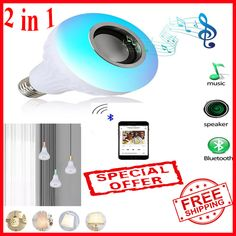 You can play soft music when you are reading , play passion music and light when you have a family party with these magnificient Speaker and light bulb at same time ! Laptop Carrying Case, Passion Music, Music Speakers, Light Music, Digital Trends, Led Lamp, Consumer Electronics, Light Bulb, Bluetooth