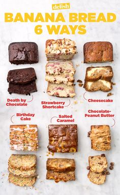 Try one of our 50 most delicious banana bread recipes. You will be born … – Try one of our 50 most delicious banana bread recipes. You will love birthday cake … – – - Try one of our 50 most delicious banana bread recipes. You will be born . Just Desserts, Delicious Desserts, Yummy Food, Delicious Chocolate, No Sugar Desserts, Baking Desserts, Banana Bread Recipes, Overripe Banana Recipes, Frozen Banana Recipes
