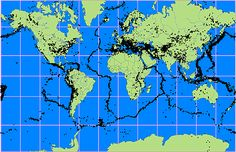 The science of earthquakes with a round up of kid-friendly links. Image of tectonic plates.