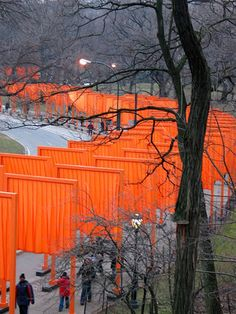 "Christo & Jeanne Claude, """"The Gates"" (They remind me of the 1000 Torii in Kyoto.)"