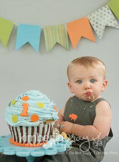 boy first birthday cake smash - Google Search