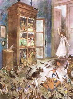 The Nutcracker and the Mouse King - Jan Marcin Szancer Fairytale Cottage, Christmas Fairy, Children's Book Illustration, Fantasy World, Faeries, Winter Wonderland, Art Reference, Childrens Books, Illustrators