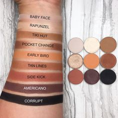 Kylie Cosmetics Bronze palette dupes with Makeup Geek Eyeshadows