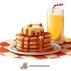 Daily Paint 1271. Pandcakes  #cute #art #illustration #digital #photoshop