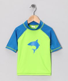Take a look at this Lime Shark Rashguard - Toddler & Boys by Candlesticks on #zulily today!