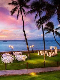 Westin Maui Resort & Spa dreamy sherbet-colored skies at sunset. Westin Maui Resort & Spa dreamy sherbet-colored skies at sunset. Ideally located on Hawaii's Kaanapali Beach, The We. Small Beach Weddings, Sunset Beach Weddings, Sunset Wedding, Maui Weddings, Island Weddings, Hawaii Wedding, Dream Wedding, Destination Weddings, Intimate Wedding Ceremony